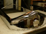 Car radiator shell after chrome plating